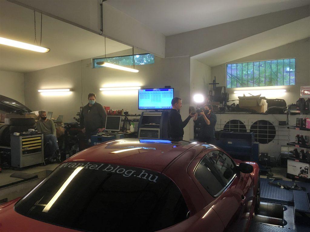 rx-8 az autokorbel mérőpadján
